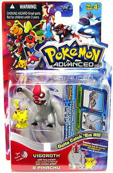 Pokemon Advanced Vigorith & Pikachu Mini Figure 2-Pack