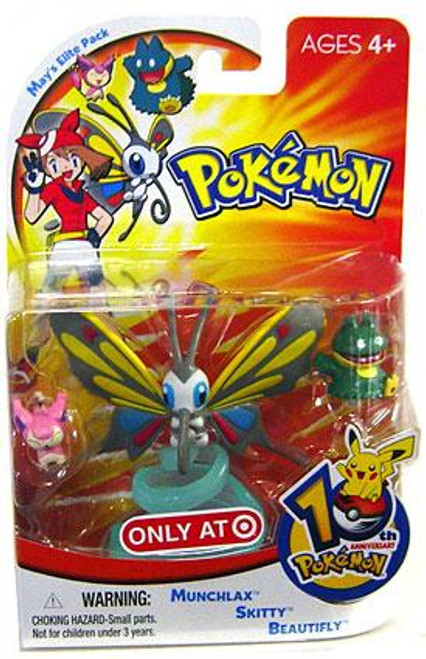 Pokemon 10th Anniversary May's Elite Pack Exclusive Mini Figure 3-Pack