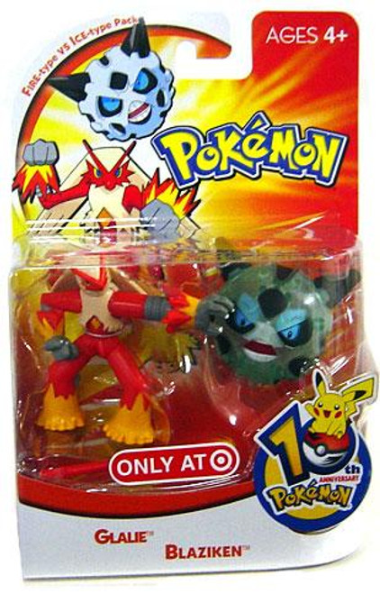 Pokemon 10th Anniversary Fire Type vs. Ice Type Pack Exclusive Mini Figure 2-Pack