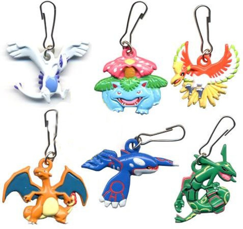 Pokemon Set of 8 Metal Keychain Mini Dangler Figures