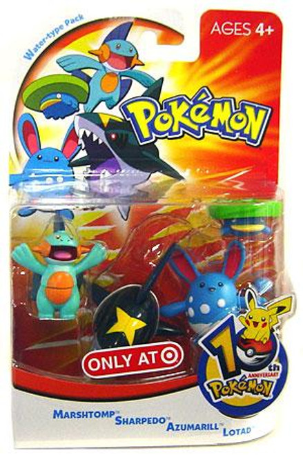 Pokemon 10th Anniversary Water Type Pack Exclusive Mini Figure 4-Pack