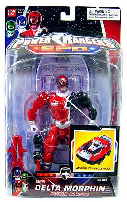 Power Rangers SPD Red Delta Morphin Power Ranger Action Figure