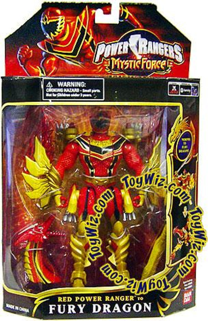 Power Rangers Mystic Force Red Ranger to Fury Dragon Action Figure