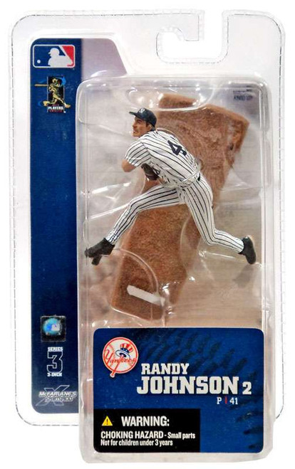 McFarlane Toys MLB New York Yankees Sports Picks 3 Inch Mini Series 3 Randy Johnson Mini Figure