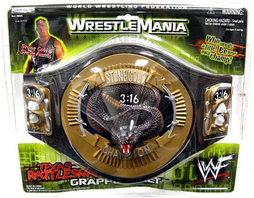 WWE Wrestling Stone Cold Rattlesnake Championship Belt [Youth]