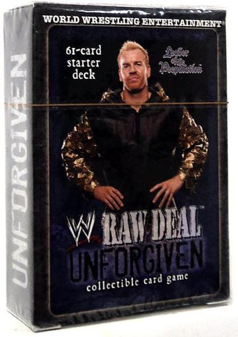 WWE Wrestling Raw Deal Trading Card Game Unforgiven Leader of the Peepulation Starter Deck