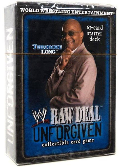 WWE Wrestling Raw Deal Trading Card Game Unforgiven Theodore Long Starter Deck