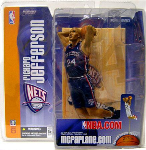 McFarlane Toys NBA New Jersey Nets Sports Picks Series 6 Richard Jefferson Action Figure [Blue Jersey Variant]