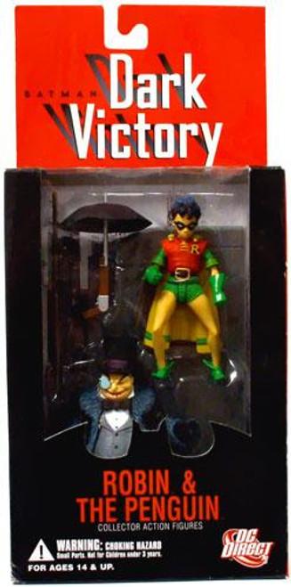 Batman Dark Victory Robin & Penguin Action Figure 2-Pack