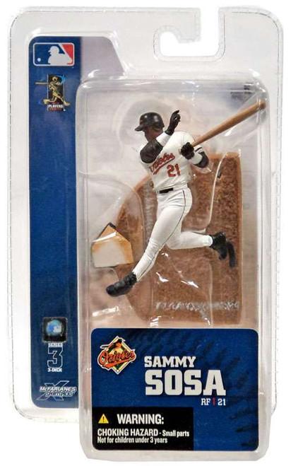 McFarlane Toys MLB Baltimore Orioles Sports Picks 3 Inch Mini Series 3 Sammy Sosa Mini Figure