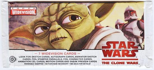 Star Wars The Clone Wars Widevision Trading Card Pack