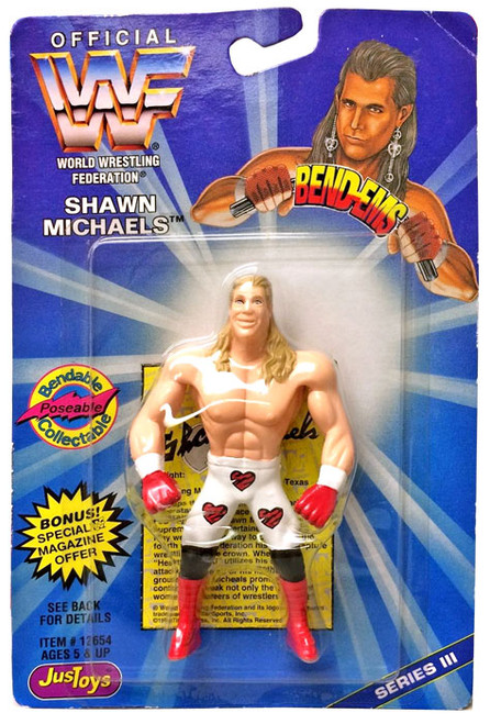 WWE Wrestling WWF Bend-Ems Series 3 Shawn Michaels Rubber Figure
