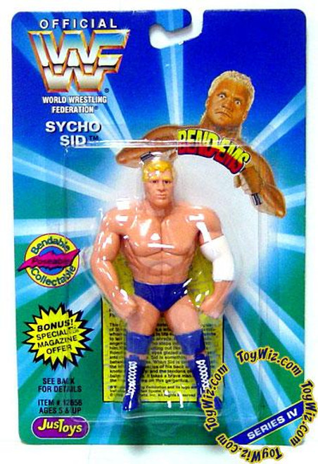 WWE Wrestling WWF Bend-Ems Series 4 Sycho Sid Rubber Figure