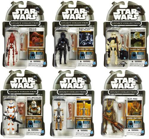 Star Wars Expanded Universe Exclusives 2013 Droid Factory Set of 6 Exclusive Action Figures