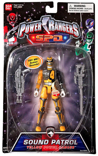 Power Rangers SPD Sound Patrol Yellow Power Ranger Action Figure
