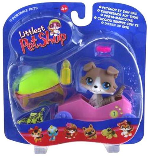 Littlest Pet Shop Portable Pets Collie Figure [Speedy Boxcar]
