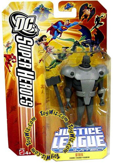 DC Justice League Unlimited Super Heroes Steel Action Figure