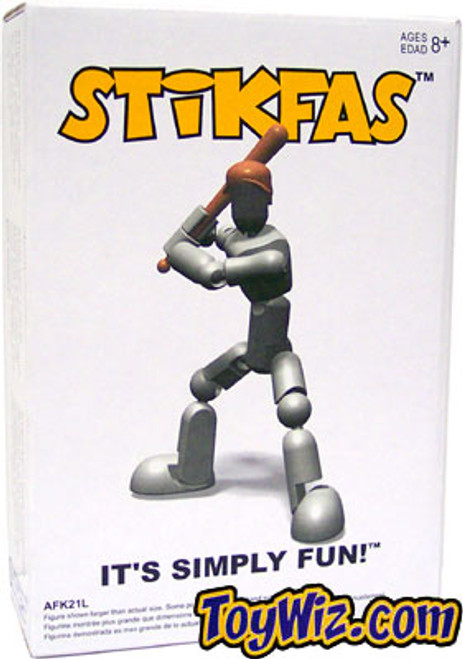 Stikfas Generation 2 Alpha Male Baseball Player Action Figure Kit [Gray]