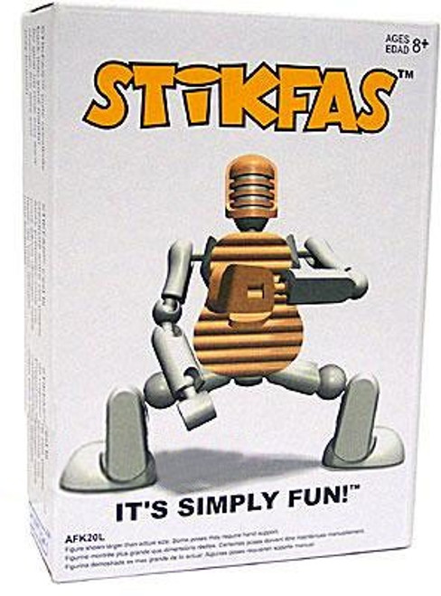 Stikfas Generation 2 Alpha Male Baseball Player Action Figure Kit [White]