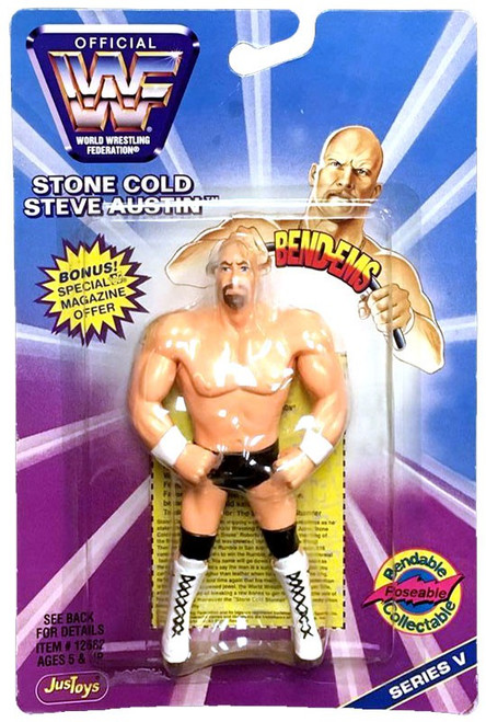 WWE Wrestling WWF Bend-Ems Series 5 Stone Cold Steve Austin Action Figure