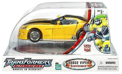 Transformers Alternators Dodge Viper SRT-10 Sunstreaker Action Figure