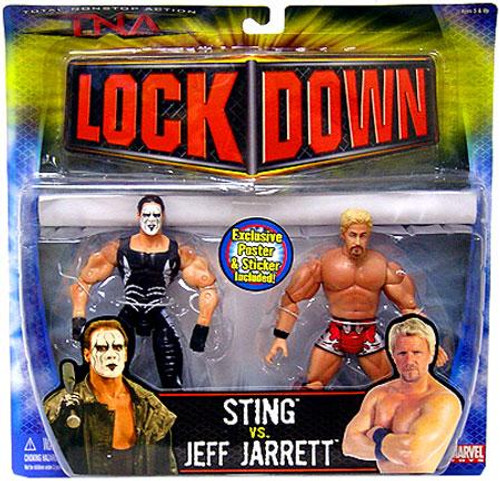 TNA Wrestling Lock Down Series 3 Sting vs. Jeff Jarrett Action Figure 2-Pack