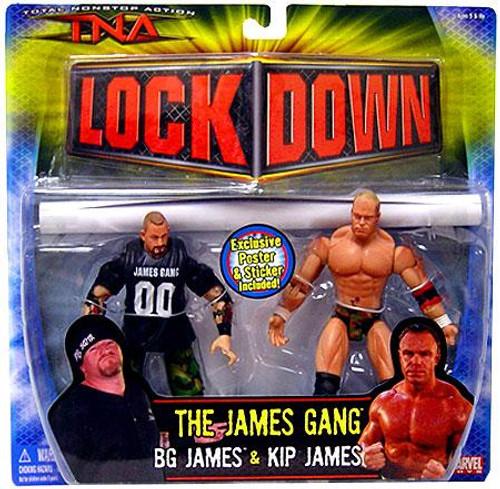 TNA Wrestling Lock Down Series 3 Kip James vs. BG James Action Figure 2-Pack