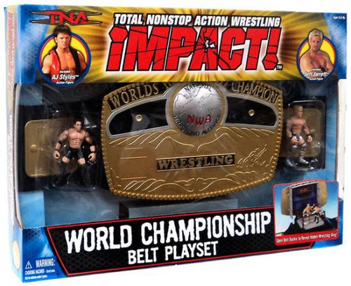 TNA Wrestling Impact Playsets World Championship Belt Action Figure Playset