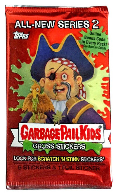 Garbage Pail Kids All-New Series 2 Trading Card Sticker Pack