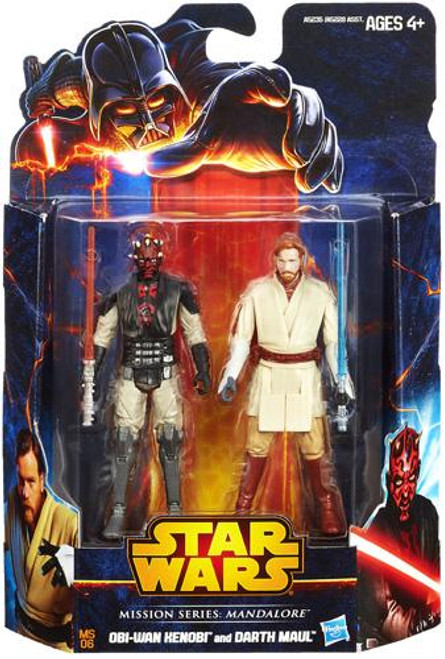 Star Wars The Clone Wars Mission Series 2013 Obi-Wan Kenobi & Darth Maul Action Figure 2-Pack MS06 [Mandalore]