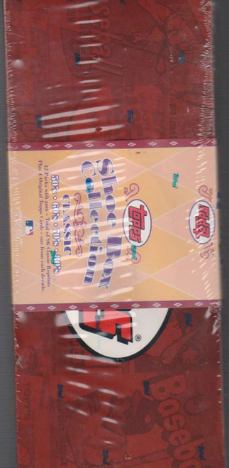 MLB ShoeBox Baseball Cards Box