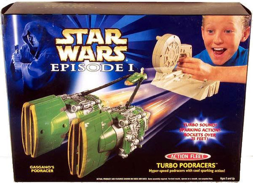 Star Wars The Phantom Menace Action Fleet Turbo Pod Racers Gasgano's Pod Racer