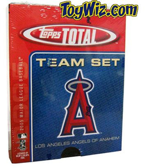 MLB 2005 Topps Total Baseball Cards Anaheim Angels Team Set