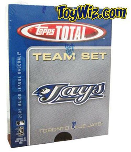 MLB 2005 Topps Total Baseball Cards Toronto Blue Team Set