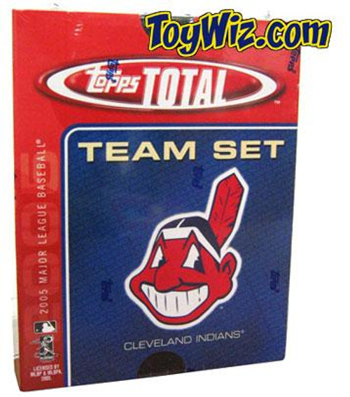 MLB 2005 Topps Total Baseball Cards Cleveland Indians Team Set