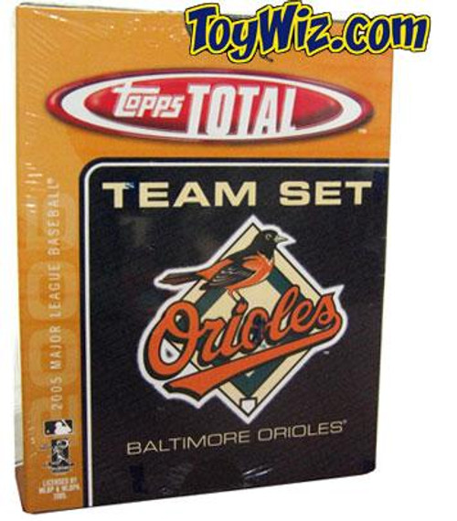 MLB 2005 Topps Total Baseball Cards Baltimore Orioles Team Set