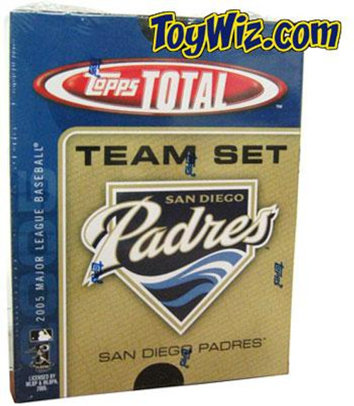 MLB 2005 Topps Total Baseball Cards San Diego Padres Team Set