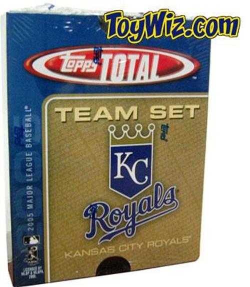 MLB 2005 Topps Total Baseball Cards Kansas City Royals Team Set