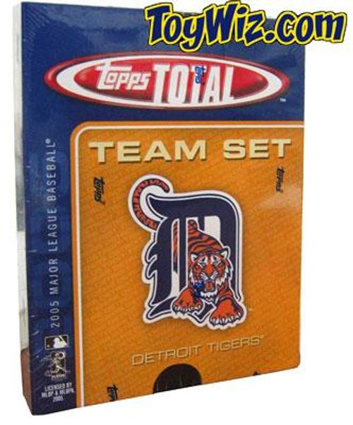 MLB 2005 Topps Total Baseball Cards Detroit Tigers Team Set