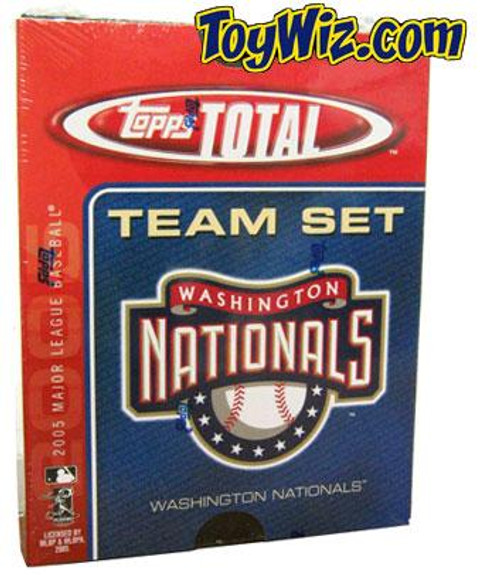MLB 2005 Topps Total Baseball Cards Washington Nationals Team Set
