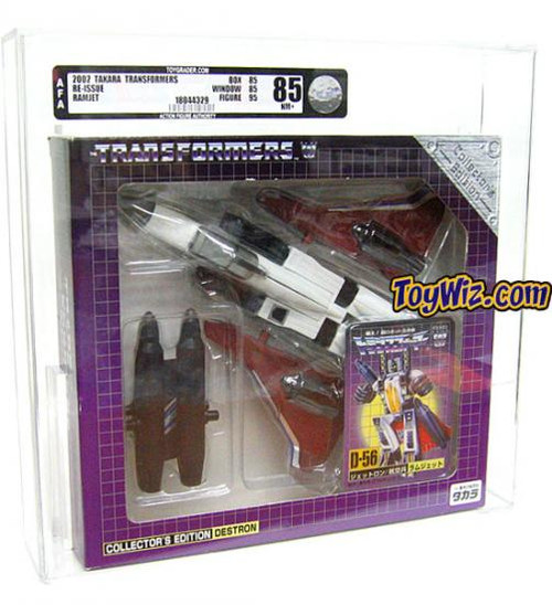 Transformers Japanese Re-Issues Ramjet Action Figure D-56 [AFA 85] [AFA Graded 85]