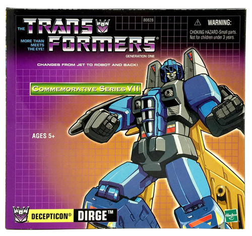 Transformers Generation 1 Commemorative Series VII Dirge Action Figure