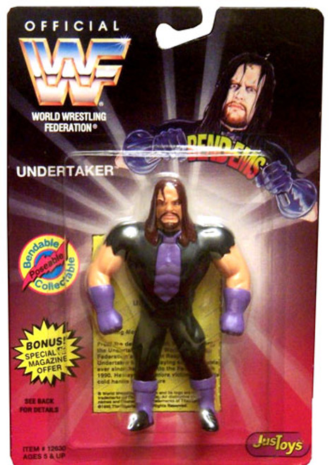 WWE Wrestling WWF Bend-Ems Series 1 Undertaker Rubber Figure