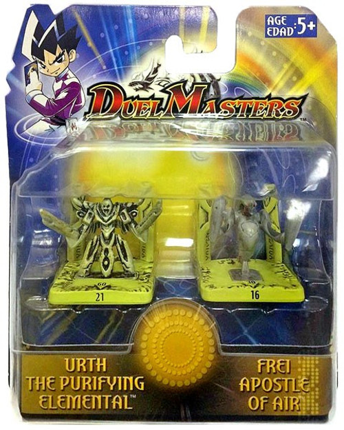 Duel Masters Urth the Purifying Elemental & Frei Apostle of Air Mini Figure 2-Pack