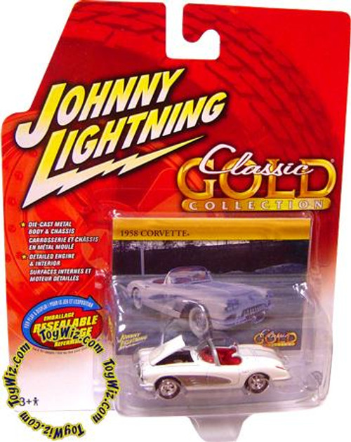 Johnny Lightning Classic Gold Collection 1958 Corvette Diecast Car [Top Down]