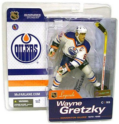 McFarlane Toys NHL Edmonton Oilers Sports Picks Legends Series 1 Wayne Gretzky Action Figure [White Jersey Variant]