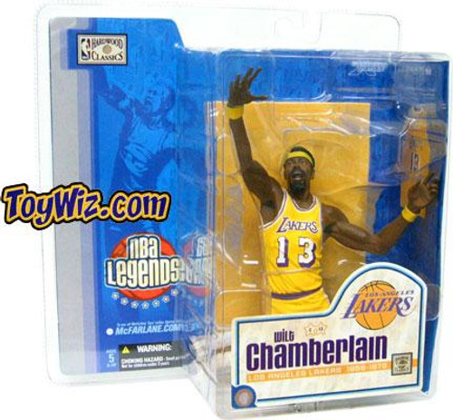McFarlane Toys NBA Los Angeles Lakers Sports Picks Legends Series 1 Wilt Chamberlain Action Figure [Yellow Jersey Variant]