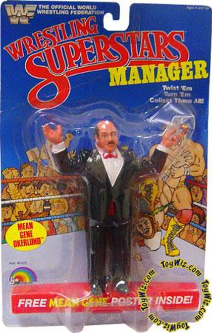 WWE Wrestling WWF Wrestling Superstars Mean Gene Okerlund Action Figure [Good]