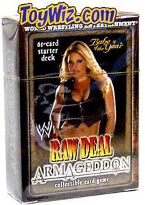 WWE Wrestling Raw Deal Trading Card Game Armageddon Babe of the Year Trish Stratus Starter Deck