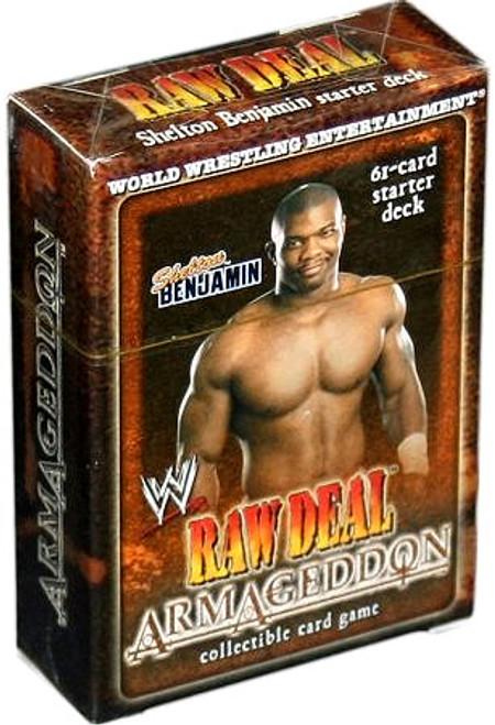 WWE Wrestling Raw Deal Trading Card Game Armageddon Shelton Benjamin Starter Deck